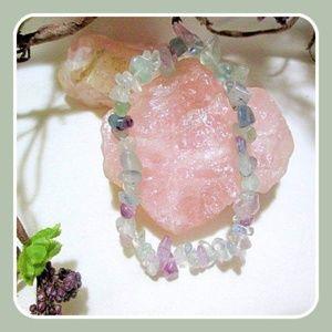 "Jewelry - ""Aura Cleansing"" Fluorite Chip Bracelet"